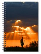 Pre Sunset Sky With Saguaro Spiral Notebook