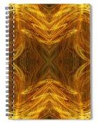 Precious Metal 3 Ocean Waves Dark Gold Spiral Notebook