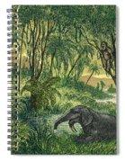 Prehistoric, Miocene Landscape Spiral Notebook
