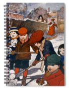 Preparing For The Snowball Fight Spiral Notebook
