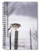 Preparing To Fly As An Oil Painting Spiral Notebook
