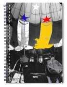 Preparing To Launch A Hot Air Balloon Dawn Albuquerque New Mexico 1973-2014 Spiral Notebook