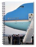 President Obama, Osan Air Base, Korea Spiral Notebook
