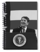 President Reagan American Flag  Spiral Notebook