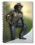 President Ronald Reagan Statue Spiral Notebook