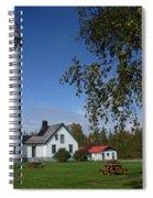 Presque Isle Mi Lighthouse 4 Spiral Notebook
