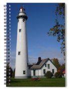 Presque Isle Mi Lighthouse 5 Spiral Notebook