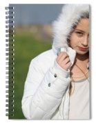 Preteen In White Coat  Spiral Notebook