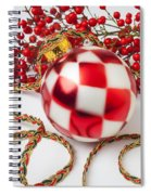 Pretty Christmas Ornament Spiral Notebook