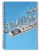 Pretty In Blue Spiral Notebook
