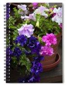 Pretty Petunias Spiral Notebook