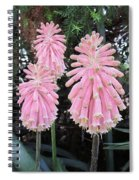 Pretty Pink Forest Lily Spiral Notebook