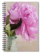 Pretty Pink Peony Spiral Notebook
