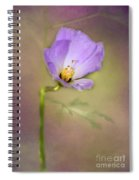 Pretty Purple Flower Spiral Notebook