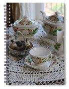 Pretty Tea Set Spiral Notebook
