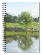 Pretty Tree In Park Picture.  Spiral Notebook