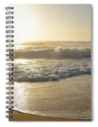 Pretty Waves At Glowing Sunrise By Kaye Menner Spiral Notebook