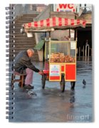 Pretzel Seller With Pushcart Istanbul Turkey Spiral Notebook