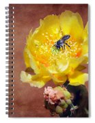 Prickly Pear And Bee Spiral Notebook