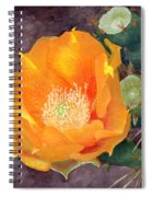 Prickly Pear Blossom Spiral Notebook