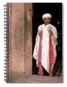 Priest At Ancient Rock Hewn Churches Of Lalibela Ethiopia Spiral Notebook
