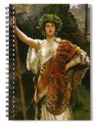 Priestess Bacchus Spiral Notebook
