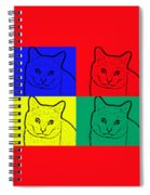 Primary And Green Cats Spiral Notebook