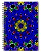 Primary Colors Fractal Kaleidoscope Spiral Notebook