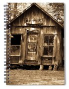 Primative Post Office Cabin In Sepia Spiral Notebook