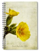Primula Pacific Giant Yellow Spiral Notebook