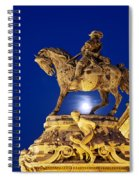 Prince Eugene Of Savoy Statue At Night Spiral Notebook