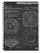 Princess Cut Diamond Patent Barcode Gray Spiral Notebook
