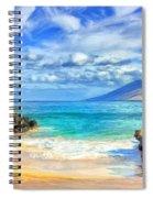 Private Beach At Wailea Maui Spiral Notebook