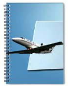 Private Jet Chicago Airplanes 14 Spiral Notebook