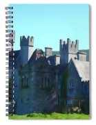 Private Property - Castle Art By Charlie Brock Spiral Notebook