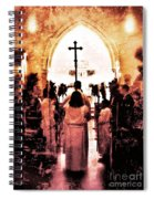 Procession Of Light Spiral Notebook