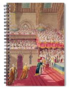 Procession Of The Dean And Prebendaries Of Westminster Bearing The Regalia, From An Album Spiral Notebook