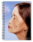 Profile Of A Filipina Beauty With A Mole On Her Cheek Altered Version Spiral Notebook