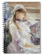 Profile Of A Seated Young Woman Spiral Notebook