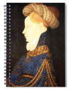 Profile Portrait Of A Lady -- Franco Flemish 15th Century Spiral Notebook