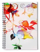 Profound Thought Rose Vine Spiral Notebook
