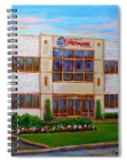 Promark Electronics 215 Voyageur Street Pointe Claire Montreal Scene Spiral Notebook