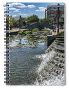 Promenade And Waterfall In Carroll Creek Park In Frederick Mary Spiral Notebook