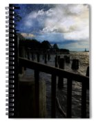 Promenade At The Hudson River New York City Spiral Notebook