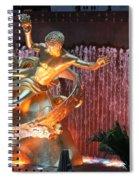 Prometheus Statue - Rockefeller Center Nyc Spiral Notebook
