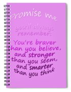 Promise Me - Winnie The Pooh - Pink Spiral Notebook