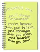 Promise Me - Winnie The Pooh - Yellow Spiral Notebook