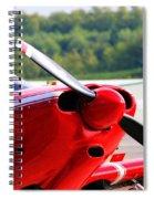 Airplane Propeller Spiral Notebook