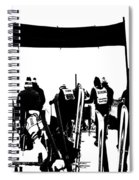 Pros Looking Over The Course Spiral Notebook