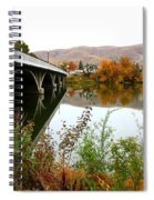 Prosser Bridge And Fall Colors On The River Spiral Notebook